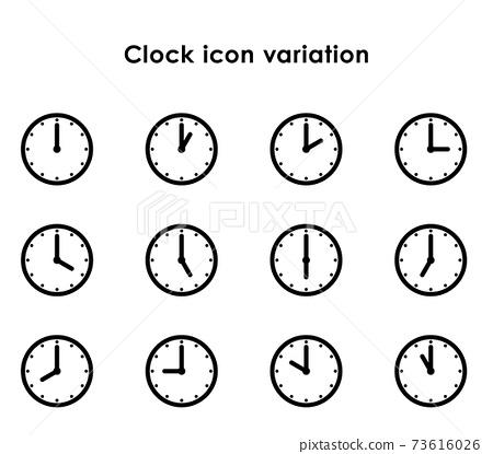 시계 아이콘 24 시간 세트 73616026
