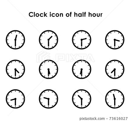 시계 아이콘 30 분의 변형 세트 73616027
