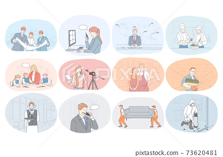 Professions, occupation, work, job, specialists, labor, business concept 73620481