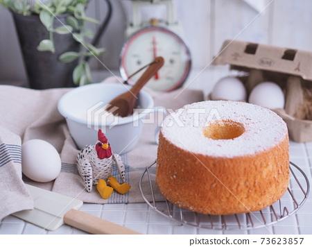 쉬폰 케이크 요리 재료 73623857