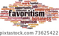 Favoritism word cloud 73625422