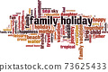Family holiday word cloud 73625433