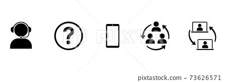 비즈니스 아이콘 콜센터 및 커뮤니케이션 73626571