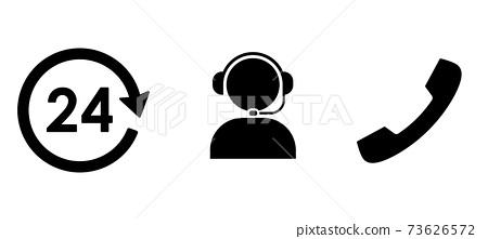 비즈니스 아이콘 24 시간 콜센터와 커뮤니케이션 73626572