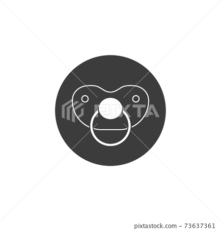 Baby pacifier icon. Vector illustration, flat design. 73637361