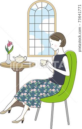 咖啡廳下午茶時間 73641771