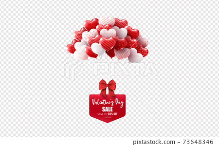 Illustration of Love and Valentine Day 73648346