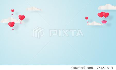 발렌타인 - 종이 접기 -3DCG- 하트 풍선 - 귀여운 세계관 [지공예] 73651314