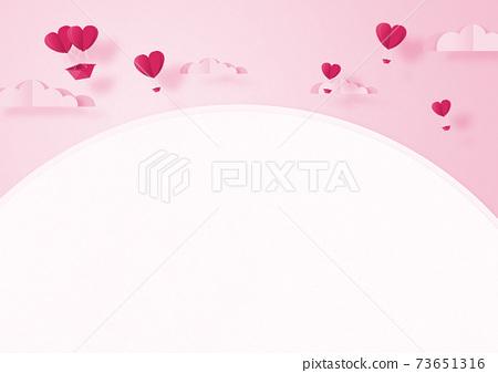 발렌타인 - 종이 접기 -3DCG- 하트 풍선 - 귀여운 세계관 [지공예] 73651316