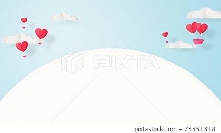발렌타인 - 종이 접기 -3DCG- 하트 풍선 - 귀여운 세계관 [지공예] 73651318