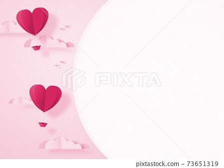 발렌타인 - 종이 접기 -3DCG- 하트 풍선 - 귀여운 세계관 [지공예] 73651319