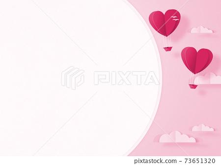 발렌타인 - 종이 접기 -3DCG- 하트 풍선 - 귀여운 세계관 [지공예] 73651320