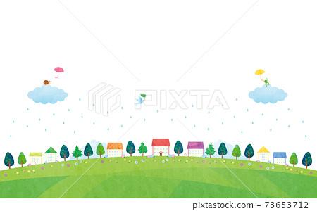 材質多雨的景觀住宅圖像(2021)白色背景5科技 73653712