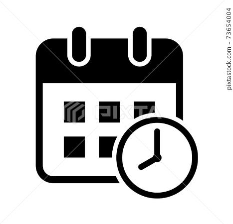 달력과 시계 아이콘 73654004