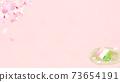 樱花背景素材-有多种变体 73654191