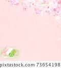 樱花背景素材-有多种变体 73654198