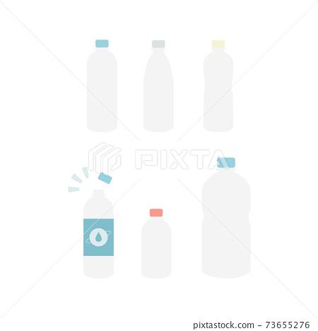 Empty PET bottles Illustration material 73655276