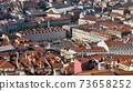 Lisbon, lisboa, Portugal Martim Monitz square and downtown aerial view 73658252