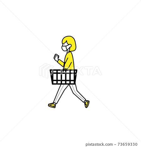 面具購物的女人 73659330