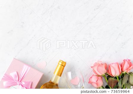 情人節 禮物 禮物盒 玫瑰 粉色 Valentine's Day rose gift バレンタイン 73659964