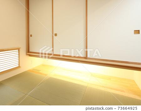 時尚的日本房間的形象 73664925