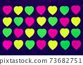 Paper heart shape sticky notes 73682751