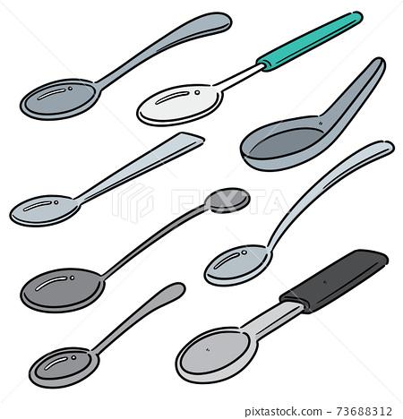 vector set of spoon 73688312