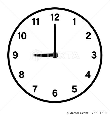 9시의 시계 아이콘 73691628