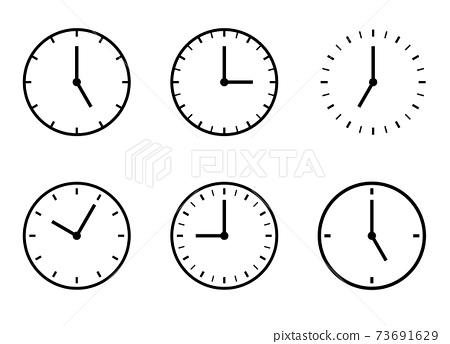 시계 아이콘 시간 변형 세트 73691629