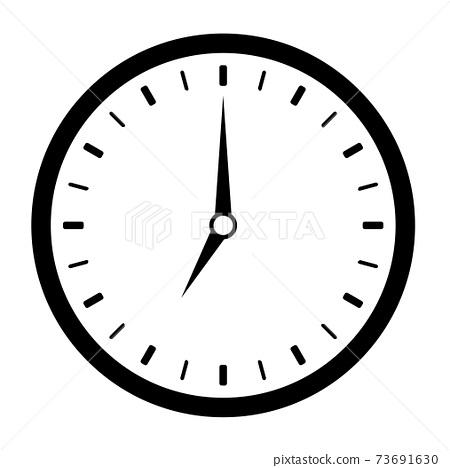 7시 시계 아이콘 73691630