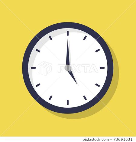 5시 시계 일러스트 아이콘 73691631