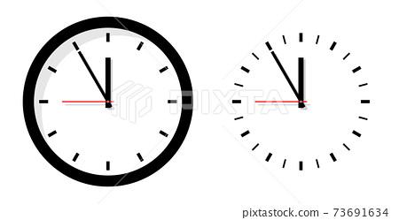 시계 아이콘 일러스트 73691634