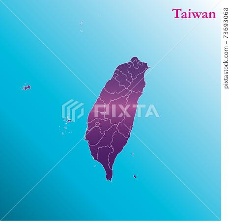 生動的台灣地圖中華民國地圖 73693068