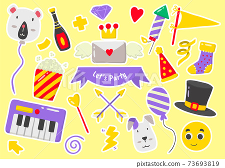 Party label Vector Logo for banner 73693819