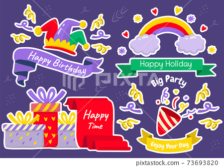 Party label Vector Logo for banner 73693820