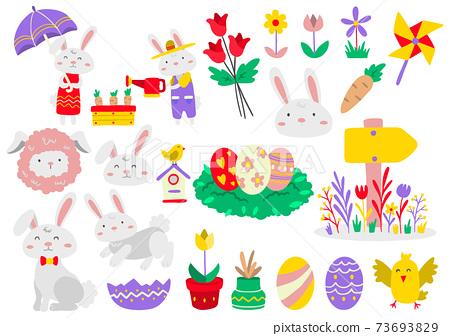 Easter Vector illustration for banner 73693829