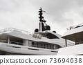 Yacht GPS Navigation, Radar Equipment And Marine Satellite Domes 73694638