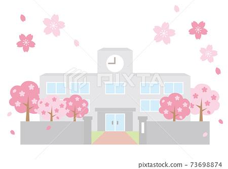 春季教學樓 73698874