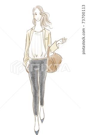 패션 업계에서 일하는 멋진 여자 멋진 일러스트 73700113