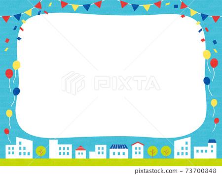 手繪城市景觀框架 73700848