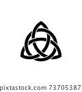 triquetra symbol icon 73705387