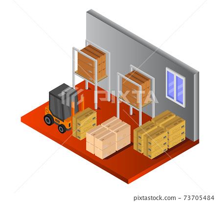 isometric warehouse 73705484