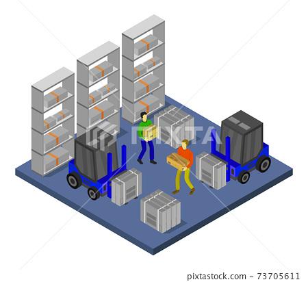 isometric warehouse 73705611