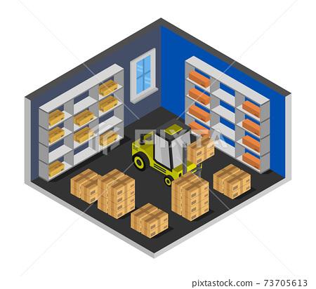 isometric warehouse 73705613