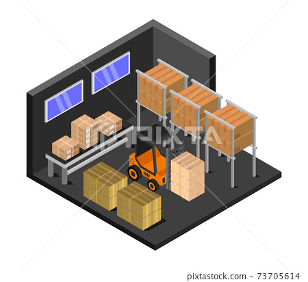 isometric warehouse 73705614