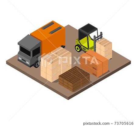 isometric warehouse 73705616