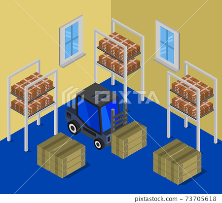 isometric warehouse 73705618