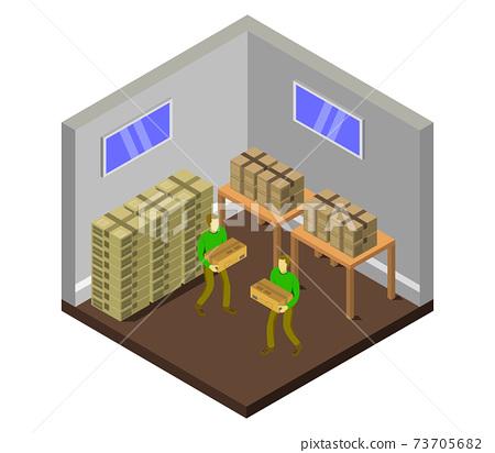 isometric warehouse 73705682