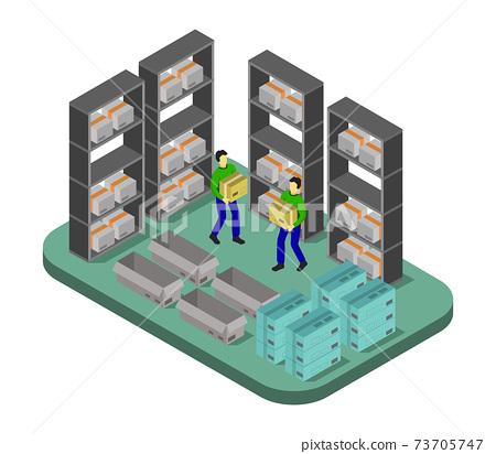 isometric warehouse 73705747