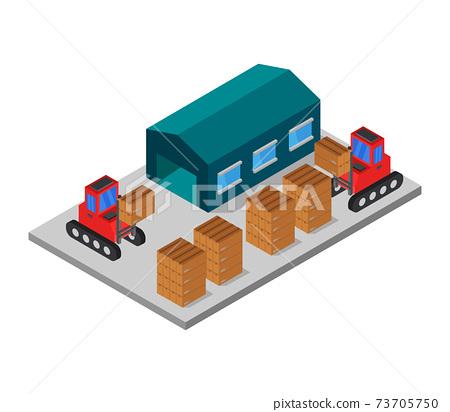 isometric warehouse 73705750
